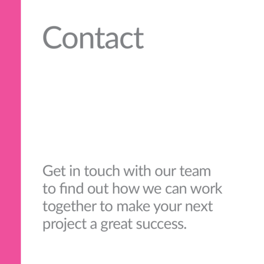 Contact. Get in touch with our team to find out how we can work together to make your next project a great success.